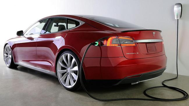 Special requirement ... Unlike other electric cars, the Tesla cannot be recharged via a normal power point. Picture: Supplied.