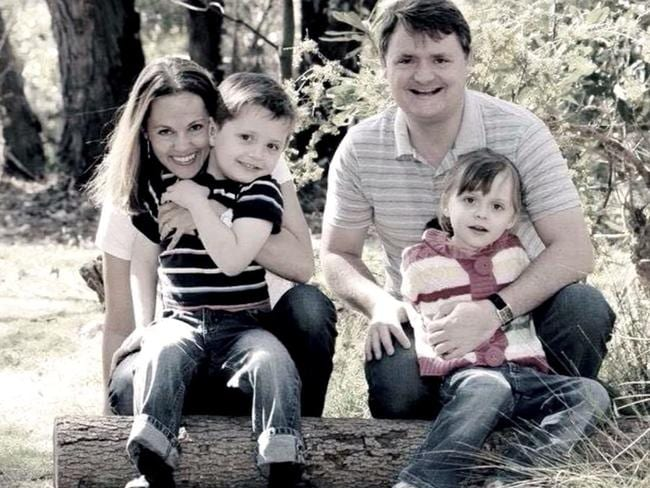 Maria Lutz and husband Fernando Manrique with children Martin and Elisa. Picture: Supplied