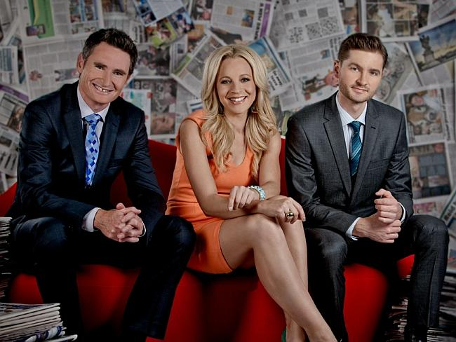 Pickering with original co-hosts Hughesy and Bickmore is 'owed a debt of gratitude' from