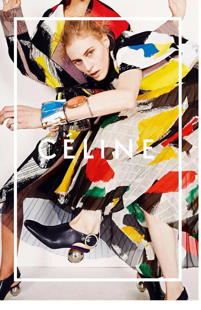 Australian model Julia Nobis for Celine
