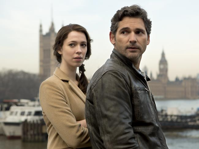 Rebecca Hall and Eric Bana in a scene from  <i>Closed Circuit</i>.