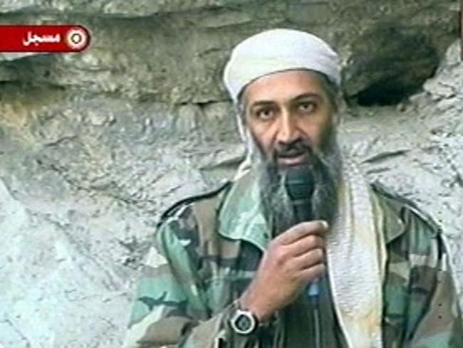 Osama bin Laden in one of his propaganda videos. Picture: Supplied
