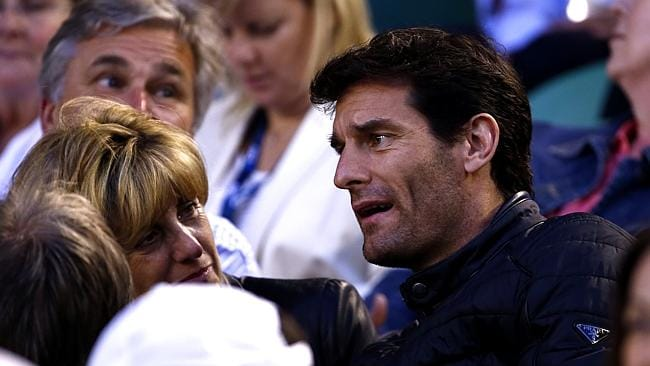 Mark Webber, at the Australian Open Womens Singles Final last month, is annoyed at speculation about the Melbourne's future as host of the Grand Prix. Picture: Michael Klein