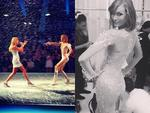 """Victoria's Secret Fashion Show 2013: Angel Karlie Kloss posts, """"I knew you were trouble... Taylor Swift rocking it on the Victoria's Secret Runway!"""" Picture: Instagram"""