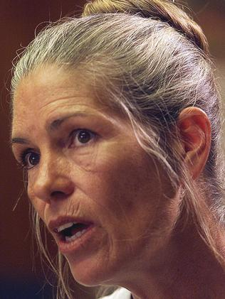 Leslie Van Houten at a 2002 parole hearing. Picture: Supplied