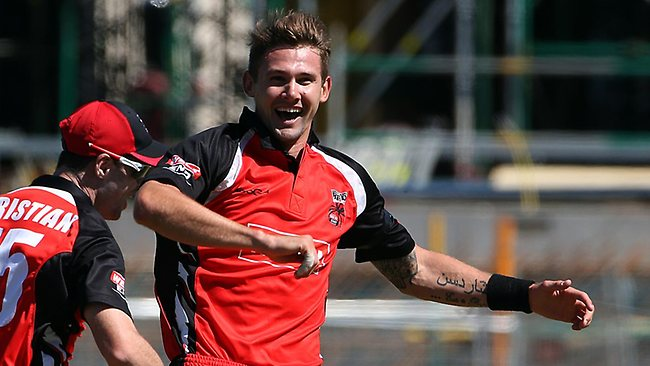 Kane Richardson in action for the Redbacks. Picture: Sarah Reed