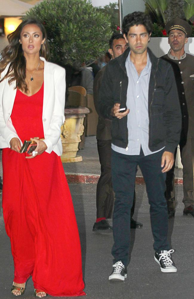 Adrian Grenier in Cannes with model Katie Cleary on 19 May, 2014.