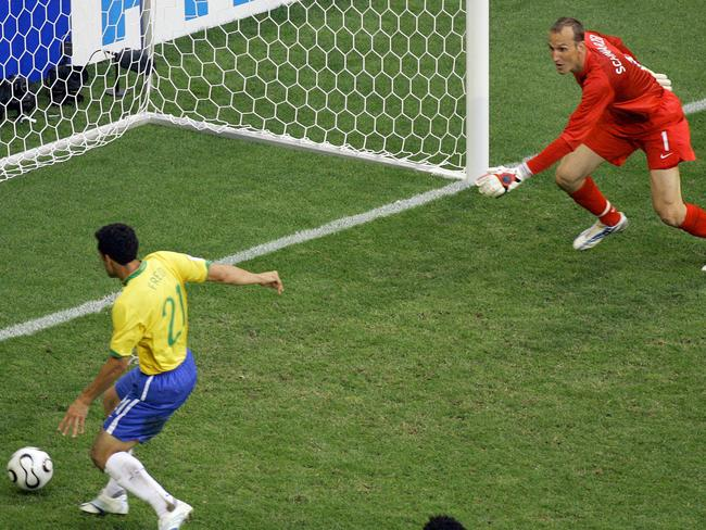 Perhaps Schwarzer shouldn't have ducked off to the shop for a packet of chips midgame. In all seriousness, he was one of our best and had good reason to be protecting the near post in the lead-up to this goal.