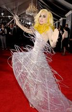 Lady Gaga looking a little alien like at the 2010 Grammy Awards. Picture: Christopher Polk/Getty Images