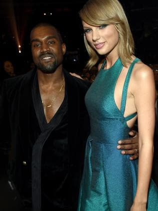 Kanye West and Taylor Swift briefly made up in 2015. Picture: Getty
