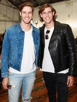 Jordan and Zac Stenmark attend the Michael Lo Sordo show at Mercedes-Benz Fashion Week Australia 2015 at Carriageworks on April 14, 2015 in Sydney, Australia. Picture: Getty