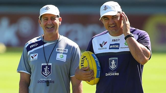 Ross Lyon and right-hand man Peter Sumich.