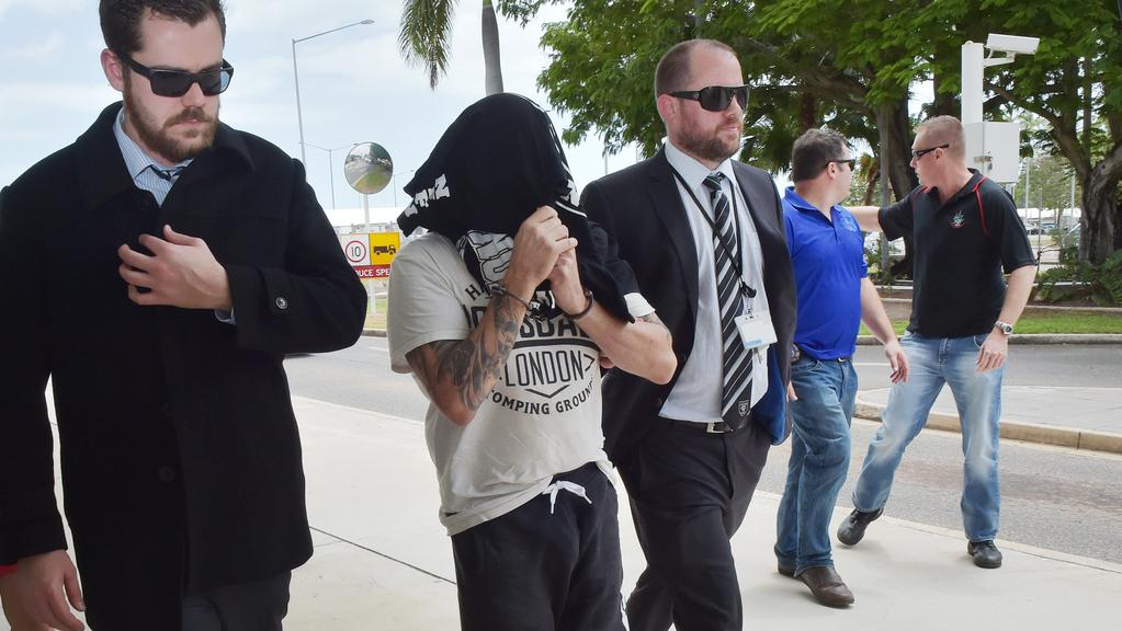 Nomads national office bearer Stephen Garland was extradited from Darwin to Sydney after his arrest in Darwin. PICTURE: Katrina Bridgeford