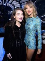Lorde and Taylor Swift attend the 2014 MTV Video Music Awards at The Forum on August 24, 2014 in Inglewood, California. Picture: Getty