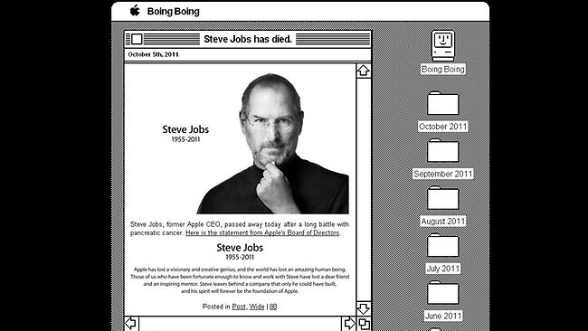 Boing Boing screengrab Steve Jobs