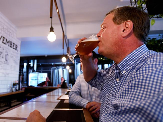 That doesn't look like XXXX: Queensland Opposition Leader Tim Nicholls. Picture: AAP Image/Tracey Nearmy