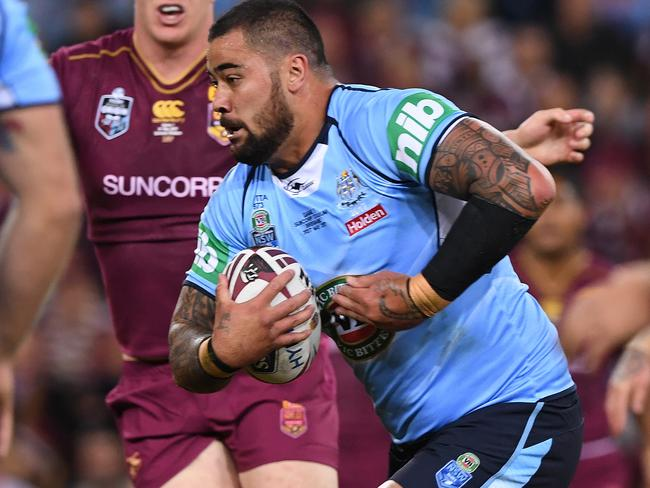 Andrew Fifita was outstanding for the Blues.