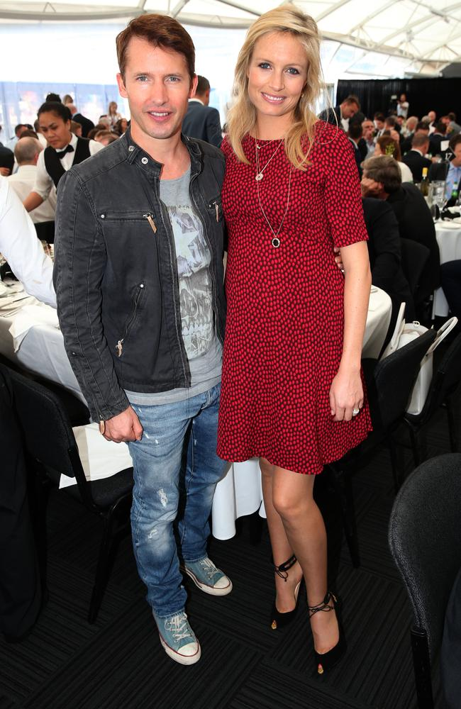 James Blunt and his wife Sofia Wellesley at the 2015 Loyal Perpetual Sportsman's Fundraising Lunch held at Darling Harbour, Sydney. Picture: Richard Dobson
