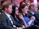 Prince Harry, Meghan Markle, Catherine, Duchess of Cambridge and Prince William, Duke of Cambridge attend the first annual Royal Foundation Forum held at Aviva on February 28, 2018 in London, England. Picture: Chris Jackson/Getty Images