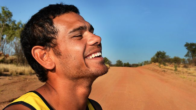 Cyril Rioli pictured in Alice Springs ahead of the indigenous All-Stars exhibition game. Picture: Wayne Ludbey