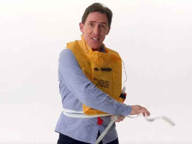 """When you see a red toggle, that's definitely the toggle to tug,"" adds Rob Brydon."