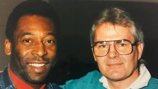 Les Murray and Brazilian superstar in Adelaide in 1988.
