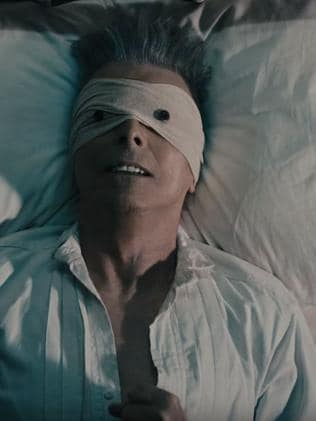 Chilling last music video ... for the song Lazarus by David Bowie which is on his last album Blackstar just released.