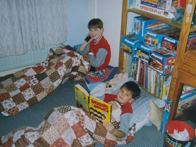 Brothers Thomas and Michael Evans, before Thomas left home and changed his name to Abdul Hakim. Picture: Sally Evans.