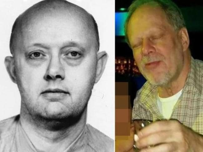 Stephen Paddock (right) and his bank robber father Benjamin Paddock (left).