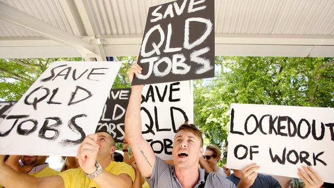 A protest in Brisbane against Queensland's proposed lockout laws. Pic Mark Calleja