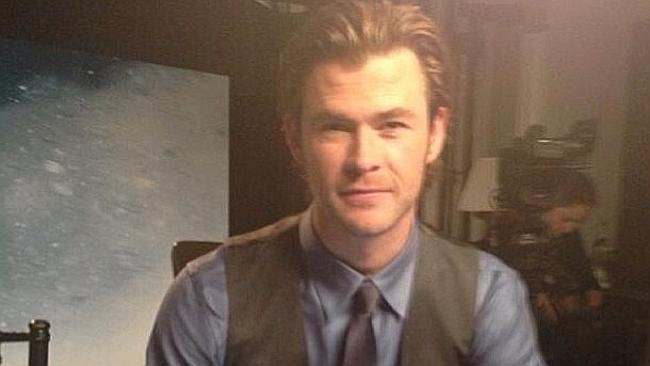 Chris Hemsworth in an Instagram picture on his fan page. Picture: Instagram
