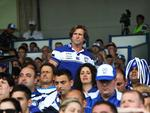 Des Hasler looks on from the stands during a Bulldogs trial game against the Roosters at Belmore Oval. Picture: Phil Hillyard
