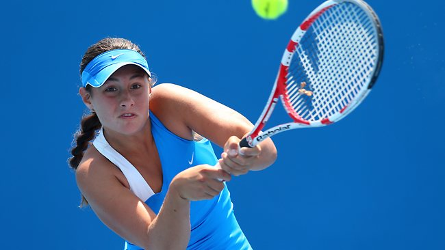 Sara Tomic's Australian Open girls' singles run ended in the second round.