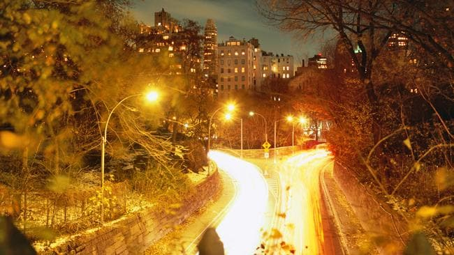 Upper East Side apartment buildings at night from Central Park. Picture: Lonely Planet