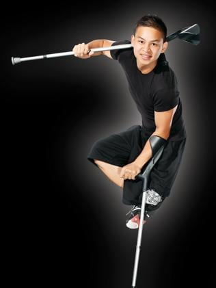 Jean Sok, the one-legged dancer who performs with Cirque Du Soleil.
