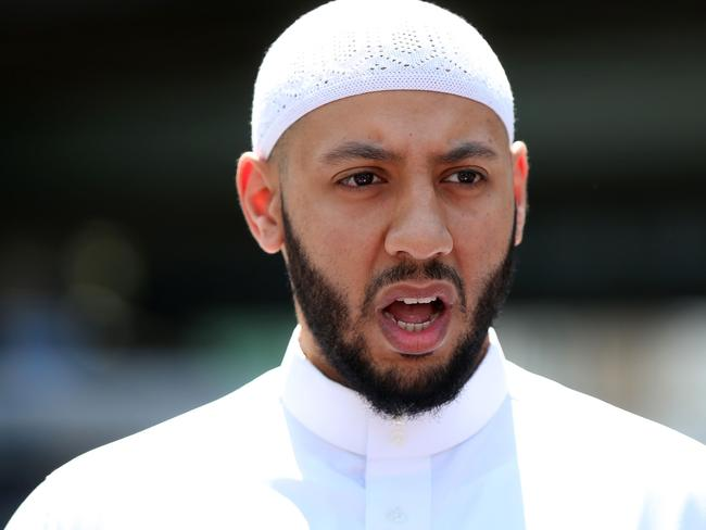 Mohammed Mahmoud, an Imam at Finsbury Park Mosque, gives a statement to the media. Picture: AFP/Isabel Infantes