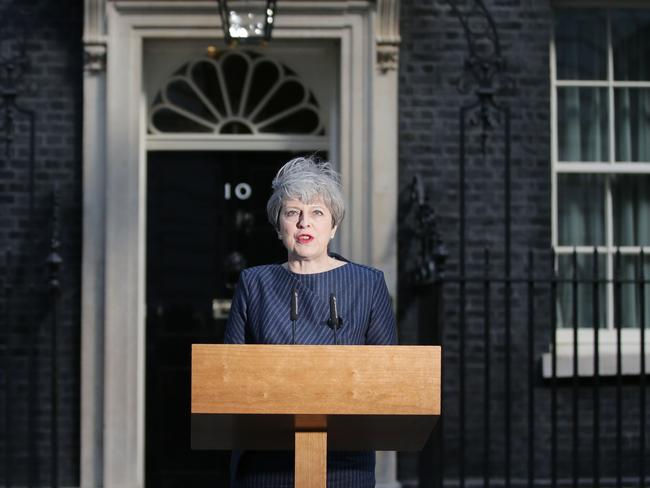 Mrs May's Conservative Party has a comfortable lead in the polls. Picture: Daniel LEAL-OLIVAS