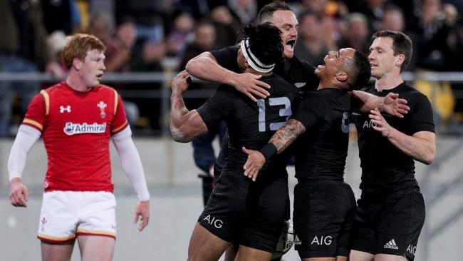 sport rugby blacks classic game halves beat wales wellington