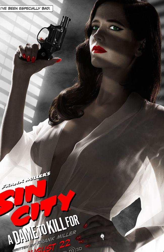 This poster featuring Eva Green from the new film Sin City 2 has been banned from promotional use by the MPAA after being deemed too sexy.