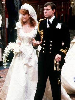 Prince Andrew married Sarah Ferguson, in London's Westminster Abbey, in July 1986. Picture: Supplied