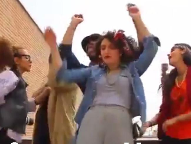 Happy dance ... The six Iranians dancing to Pharrell Williams' Happy have been arrested.
