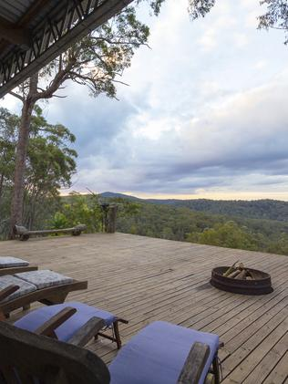 Stunning views from the balcony. Photo: Airbnb