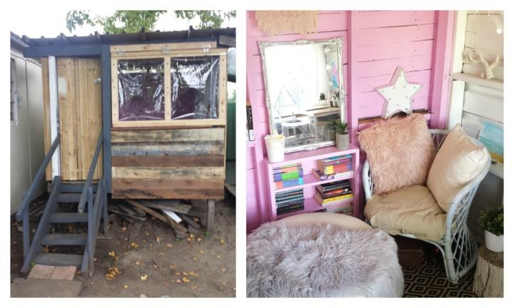 'I turned my kids' cubby house into my own private retreat and it's heaven'