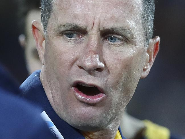 AFL - Adelaide Crows v Geelong - Round 18 - Adelaide Oval. Don Pyke at three quarter time. Picture Sarah Reed