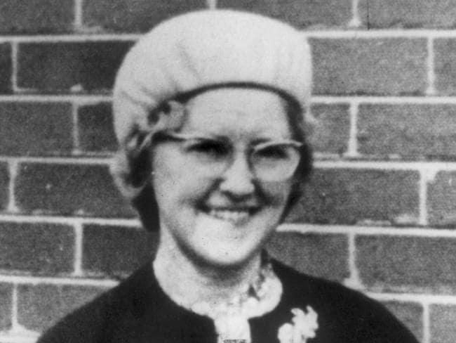 Victim Bertha Miller, aged 73, in 1980.