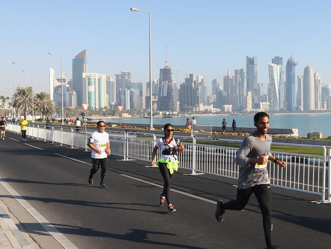 The Ooredoo Doha Marathon, Qatar's largest mass-participation sports event, took place this month. Picture: Michael Steele/Getty Images for QTA)