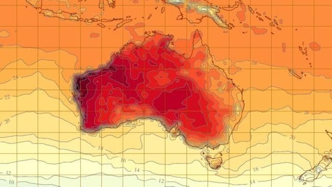 The Bureau of Meteorology's says temperatures could reach as high as 47C on Tuesday. Source: BoM.