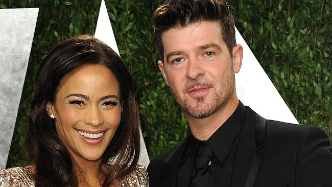 Please forgive me... Paula Patton and Robin Thicke recently split after nine years of marriage. Picture: Jordan Strauss/AP