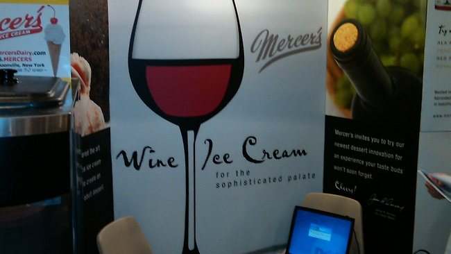 Mercer's wine ice cream in NY is 5% proof and you must be 21 to buy it. Pitcure: Supplied