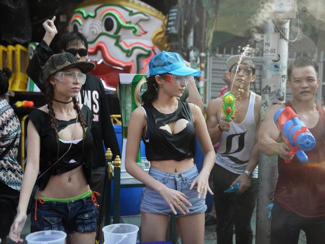 Revellers were told to cover up this year.